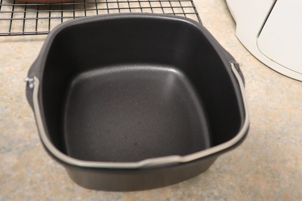 Lightly spray oil, or butter the air fryer baking pan.